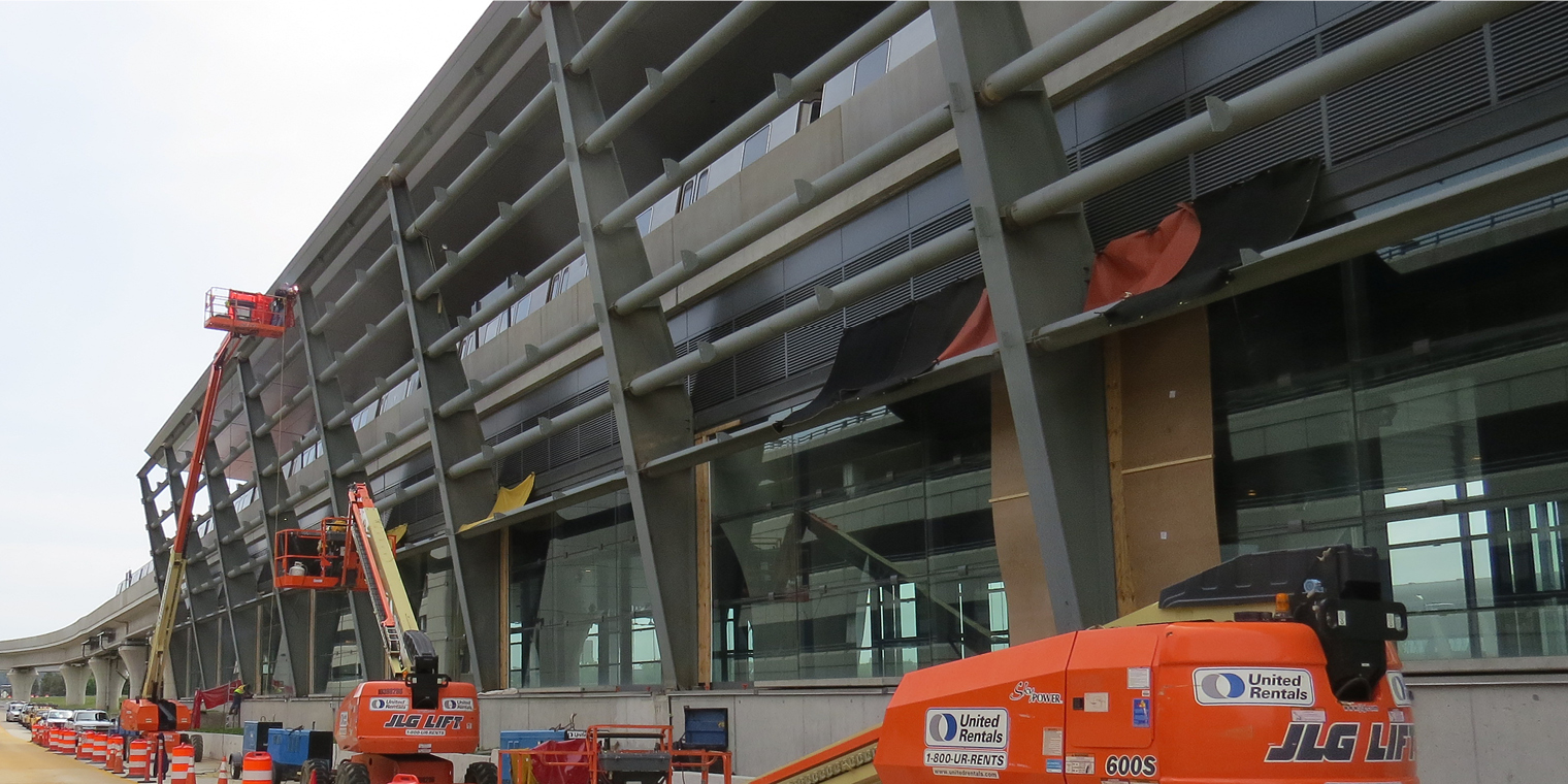 Silver Line Phase 2 Windscreen Updates Progress at Dulles Airport Station