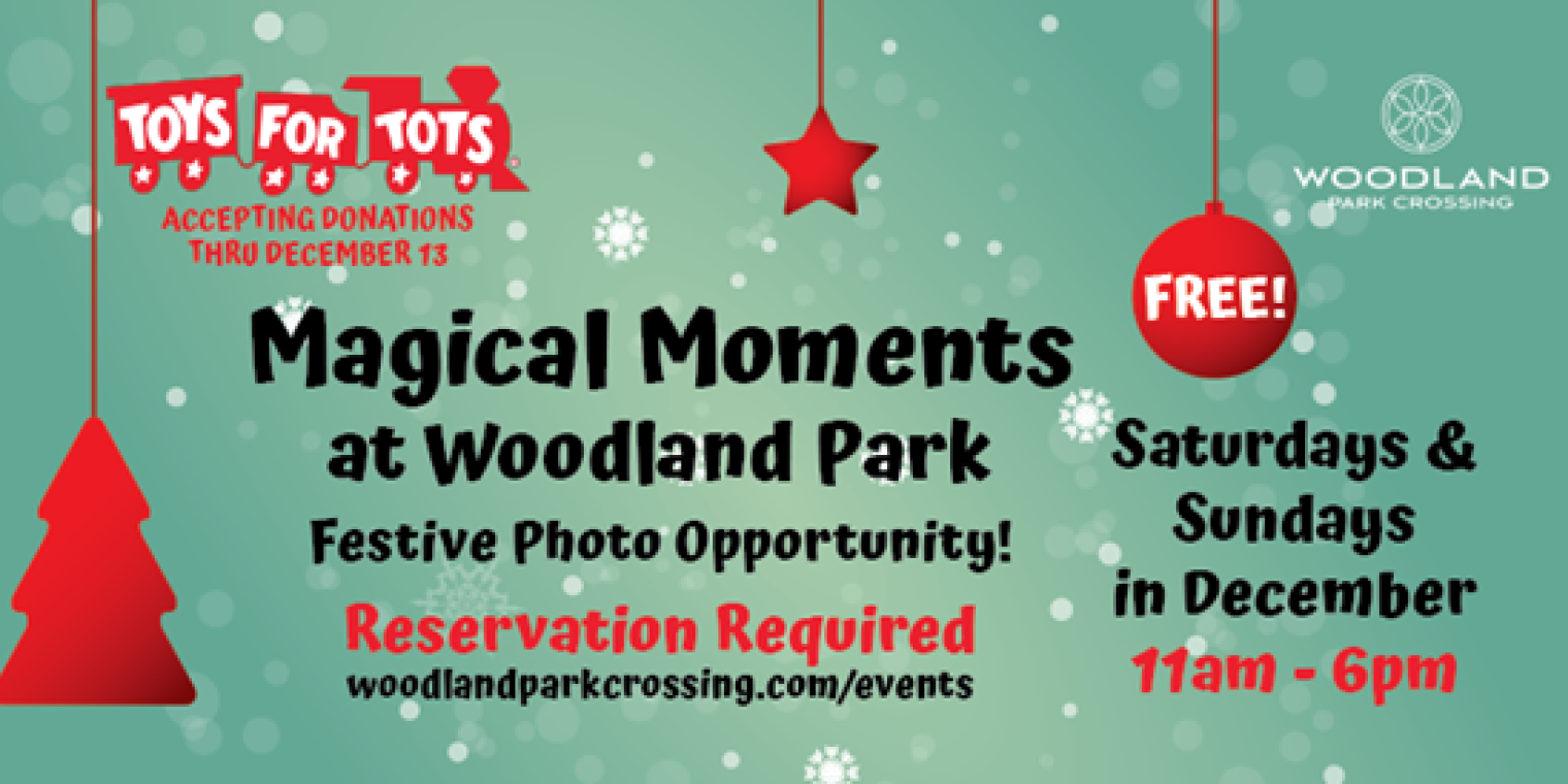 Coming Soon to Woodland Park Crossing! Magical Moments at Woodland Park – Festive Photo Setting
