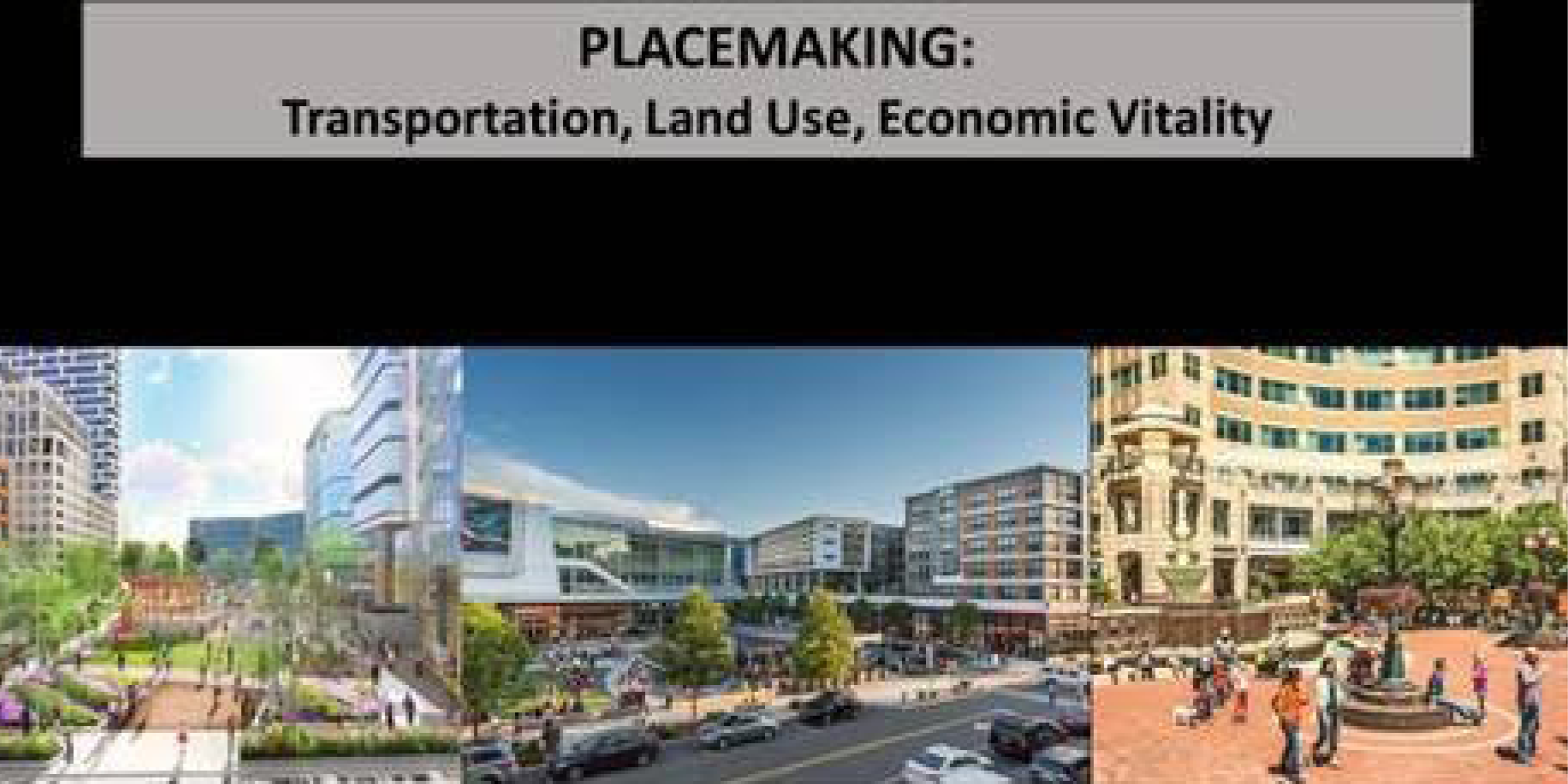"""Placemaking: Transporation, Land Use, and Economic Vitality"""