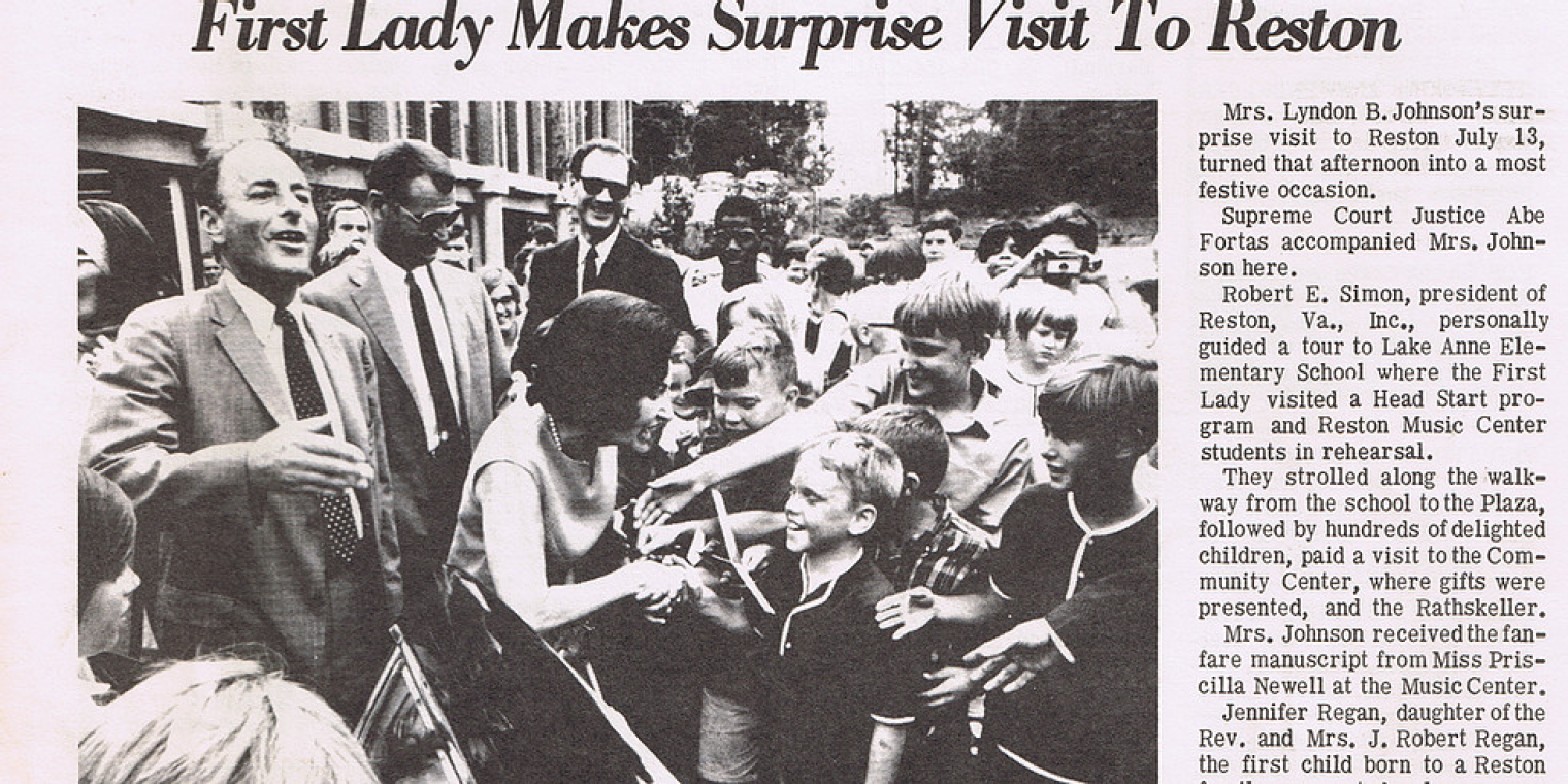 Behind the Scenes of Lady Bird Johnson's 1967 Reston Visit Presented by Reston Historic Trust & Museum and author Julia Sweig